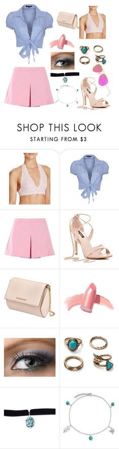 """Spring Day"" by cara-mitchell19 ❤ liked on Polyvore featuring Free People, QED London, Love Moschino, Givenchy, Elizabeth Arden, Child Of Wild, Bling Jewelry and Ray-Ban"