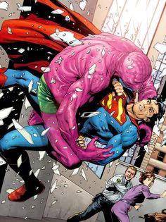 rockofeternity:  Superman vs. the Parasite — Gary Frank