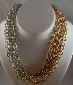 Image of Silver & Gold Links Necklace