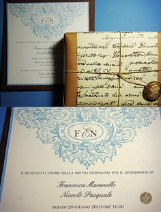 vintage invitations and favor