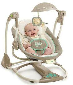 Whimsical Wonders Musical Baby Ingenuity ConvertMe Swing to Seat
