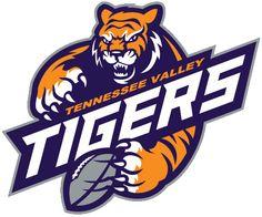 Tennessee Valley Tigers, Women's Spring Football League, Huntsville, Alabama Raven Logo, Spring Football, Esports Logo, Sports Team Logos, Triangle Design, Creative Flyers, How To Make Logo, Logo Maker, Graphic Design Illustration