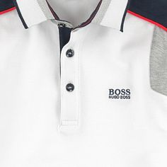 Cotton piqué Polo collar Long sleeves Piping on the trims Buttons on the front Embroidered brand Small logo patch on the heels Mens Polo T Shirts, Boys T Shirts, Golf Shirts, Camisa Polo, Hugo Boss, T Shirt Boss, Kurta Pajama Men, Polo Outfit, Casual Outfits