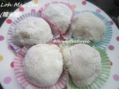 In case any one of you have no idea what is Loh Mai Chi(糯米糍), it is actually slightly sweetened glutinous rice kuehs encasing sweeten roaste...