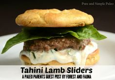 Paleo Parents Guest Post, Tahini Lamb Sliders, Forest and Fauna #paleo #glutenfree