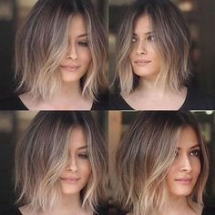 You may find here beautiful shades of balayage ombre hair colors and hairstyles for every woman to wear nowadays. This is best hair color for medium and long hair looks in recent year. Blonde Ombre Short Hair, Brown To Blonde Ombre, Ombre Hair Color, Ombre Bob Hair, Balayage Short Hair, Short Hair Ombre Brown, Bob Hair Color, Short Hombre Hair, Highlights For Short Hair