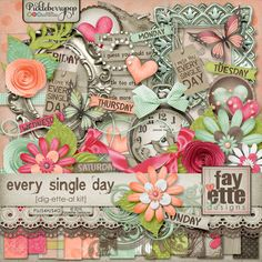 Every Single Day Dig-ette-al Kit by Fayette Designs. 20% off at Pickleberrypop. Check out the coordinating products and Bundles in her store.