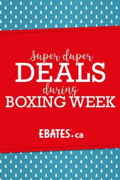 You know what we love? Some SUPER DUPER DEALS! Shop Boxing Day deals, promos, and free shipping offers from stores such as Amazon, Hudson's Bay, Groupon, and more! #EbatesCABoxingDay