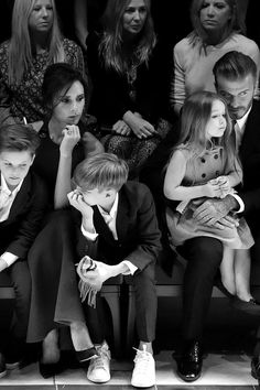 Victoria and David Beckham Sit Front Row With Kids at Burberry Show: Was Anna Wintour Impressed? David Beckham Kids, Vic Beckham, Harper Beckham, David E Victoria Beckham, Victoria And David, Anna Wintour, Cara Delevingne, Celebrity Gossip, Celebrity Style