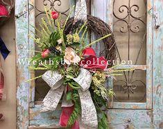 Fall Wreath Sunflower Wreath Grapevine Wreath Home Decor Spring Front Door Wreaths, Holiday Wreaths, Spring Wreaths, Easter Wreaths, Moss Wreath, Grapevine Wreath, Hydrangea Wreath, Sunflower Wreaths, Floral Wreaths
