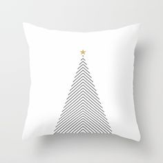 Buy Minimal Christmas Tree #society6 #decor #buyart Throw Pillow by nileshkikuuchise. Worldwide shipping available at Society6.com. Just one of millions of high quality products available.