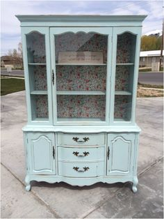 We picked up this adorable French Provincial hutch and made a plan. It as a little bit smaller than the ones we have done in the past. We wanted it to be a sweet statement piece for a little girls...