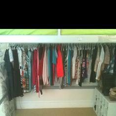 """I turned the bottom of my loft bed into a """"walk in closet""""!"""
