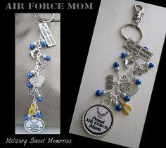 AIR FORCE MOM PURSE CHARM