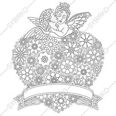 3 Coloring Pages For Valentines Day Book