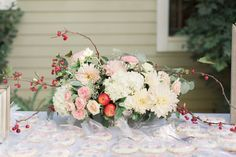 Courtney Stockton photography Kari Young Floral Designs dahlias, roses and hydrangeas, crab apples