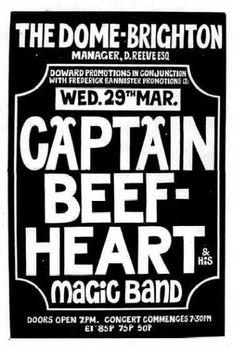 Captain Beefheart & his Magic Band - the Dome, Brighton, Englandl' 29.03.72