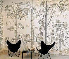 Statement Wall - Madhubani/Mithila (Indian Folk Art)