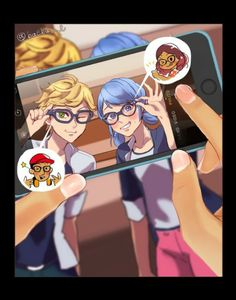 Image shared by Alice. Find images and videos about ladybug, Chat Noir and marinette on We Heart It - the app to get lost in what you love. Ladybug E Catnoir, Comics Ladybug, Ladybug Und Cat Noir, Lady Bug, Cat Noir Cosplay, Adrien X Marinette, Adrian And Marinette, Les Miraculous, Mlb