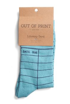 Book 著作 книга Livre Libro Read 読む Lire читать Leggere Leer Reading Imagination AOut of Print - Library Card Socks I Love Books, My Books, Book Lovers Gifts, Book Gifts, Library Card, Library Books, Mode Chic, Book Nerd, Sock Shoes