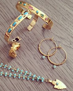 Gold & Turquoise for this summer ☀️🌊