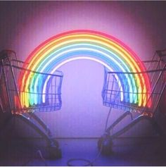 Rainbow neon lights