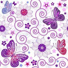 papel de parede vintage floral lilás - Pesquisa Google