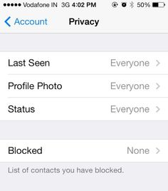 "You can disable your ""Last Seen."" 