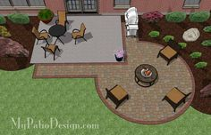 Add a taste of elegance to your existing rear patio with this DIY Circle Patio Addition Design with Grill Pad. Perfect for fire pit or large round patio table.