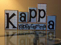 A personal favorite from my Etsy shop https://www.etsy.com/listing/224789805/kappa-kappa-gamma-wooden-block-set
