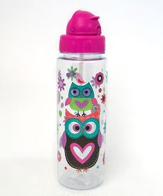 Pink Owl Water Bottle