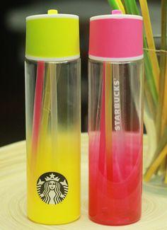 Korea Starbucks 2015 Sparkling Summer Fizzio Water Bottle Berry Lime 2ea 1SET #Starbucks