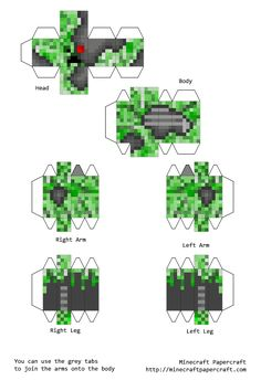 1000 Images About Papercraft On Pinterest Minecraft
