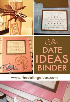 Date ideas BINDER! We NEED this!