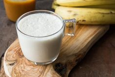 Fresh Made Chocolate Banana Smoothie on a wooden table. Milkshake with nuts. Healthy food and drink concep , Healthy Food Blogs, Healthy Diet Recipes, Chocolate Banana Smoothie, Protein Diets, Wooden Tables, Milkshake, Glass Of Milk, Snacks, Fresh