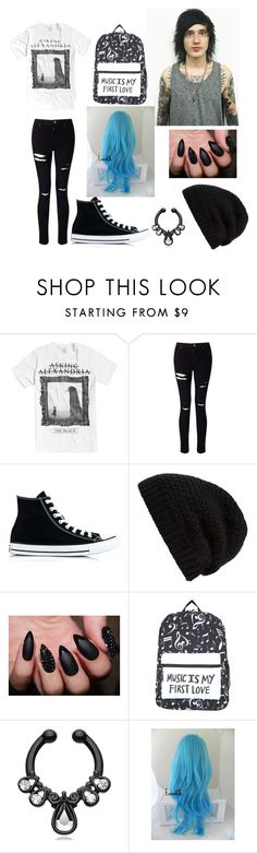 """""""Untitled #7"""" by piercetheanabel ❤ liked on Polyvore featuring Miss Selfridge, Converse and Rick Owens"""