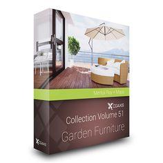 3d garden furniture model 3d model 3d modeling pinterest garden furniture 3d and models