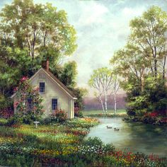 Flower Cottage by Fred Swan