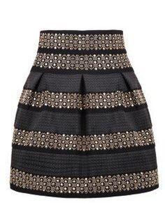 falda corta de fiesta con estoperoles $380 - en Mercado Libre