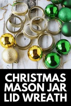 If you have cases of mason jars lying around, put them to good use with this super cute Christmas Mason Jar Lid Wreath! This is a GREAT budget decor option and easy to recreate! Get the full tutorial at MomDot.com!