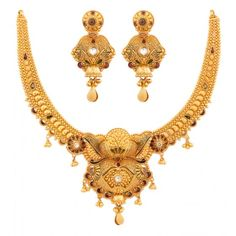 Gold Wedding Jewelry, Gold Jewelry Simple, Simple Necklace, Gold Necklace, Bridal Jewelry, Gold Ring Designs, Gold Jewellery Design, Gold Mangalsutra Designs, Gold Set