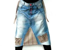 Denim-jeans blue recycled fantasy,romantic,extraordinary skirt.Made from recycled cloting.