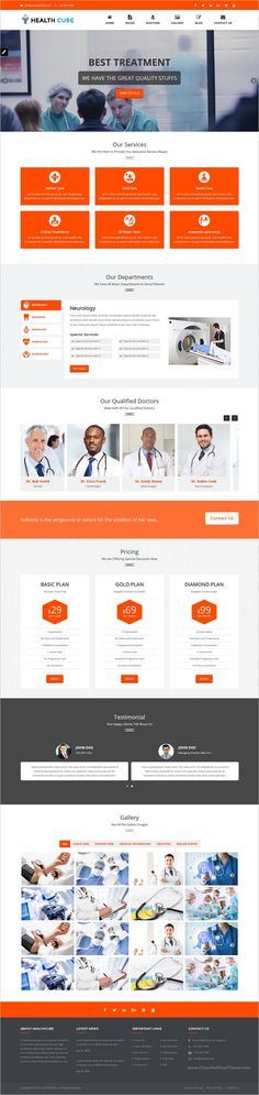 HealthCube is a responsive and clean 2in1 HTML #Bootstrap template for doctors, #hospitals, #clinic, dental surgeons, and any kind of health or medical related websites download now➩ https://themeforest.net/item/healthcube-health-medical-responsive-html-template/18615097?ref=Datasata