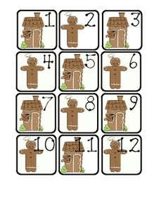 GINGERBREAD THEMED CALENDAR SQUARES / MATH CENTERS. I hope you'll find ...