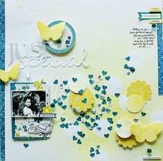 Lilith's scrapbooking venture: Sunday  I like the small patterned hearts. Great idea!
