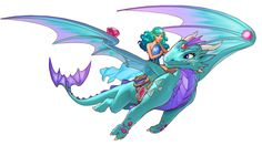 Merina is a water dragon who resides in Elvendale. She is youngest of the larger dragons, and is close friends with Naida Riverheart.