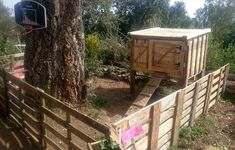 Pallet Chicken Coop With Fence All Around - 130+ Inspired Wood Pallet Projects | 101 Pallet Ideas - Part 11
