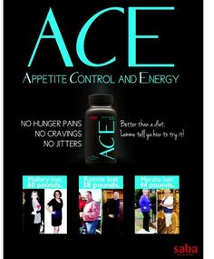 to order your ACE go to http://meagansantos.lovemyace.com Or join my saba/ACE team at http://meagansantos.sababuilder.com