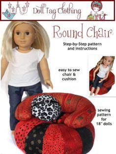 Doll Tag Clothing Round Chair Doll Furniture pattern download by PixieFairePatterns, $3.99