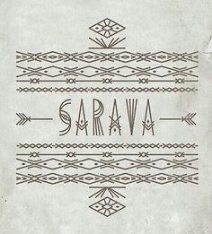 Sarava pra quem é de Sarava Logo Design, Branding Design, Graphic Design, Tribal Logo, Calligraphy Words, Sacred Art, Mandala Tattoo, Sacred Geometry, Tattoo Inspiration